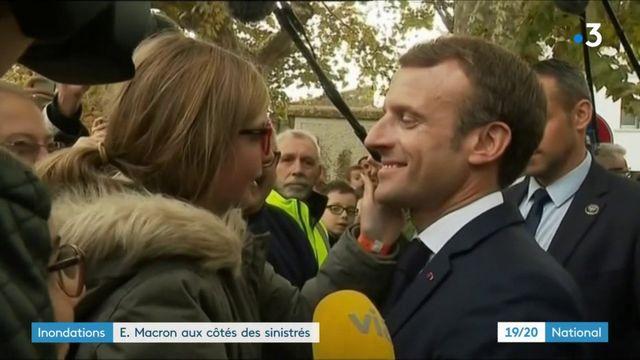 Inondations dans l'Aude : les promesses d'Emmanuel Macron aux sinistrés