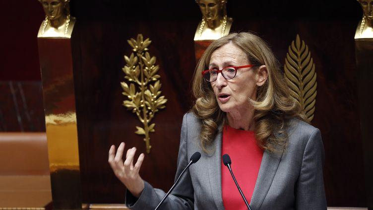 La garde des Sceaux, Nicole Belloubet, le 24 juillet 2017 à l'Assemblée nationale. (FRANCOIS GUILLOT / AFP)