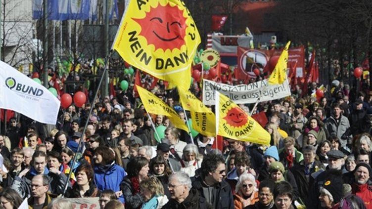 Manifestation à Berlin contre l'énergie nucléaire le 26 Mars 2011 (PHOTO AFP / ANDERSEN ODD)