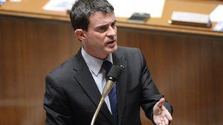Manuel Valls à l'Assemblée nationale le 27 janvier 2015 (BERTRAND GUAY / AFP)