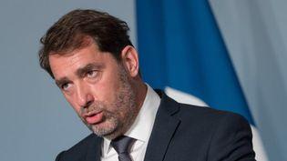 Le ministre de l'Intérieur, Christophe Castaner, après le Conseil des ministres du 27 mai 2020. (JACQUES WITT/SIPA)