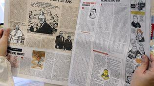 "Le nouveau ""Charlie Hebdo"", sorti en kiosque, le 14 janvier 2015. (BERTRAND GUAY / AFP)"