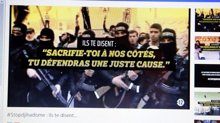 (Stopdjihadisme.fr, le site du gouvernement pour lutter contre l'apologie du terrorisme sur internet ©maxPPP)