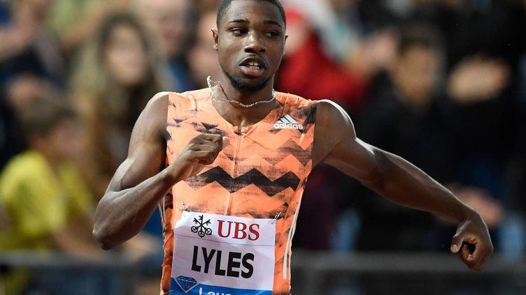 Le sprinter américain Noah Lyles (ALAIN GROSCLAUDE / AFP)