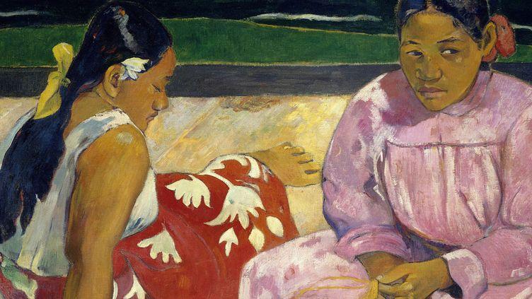 "Un détail du tableau de Paul Gauguin ""Femmes de Tahiti"" (1891)  (Josse/Leemage)"