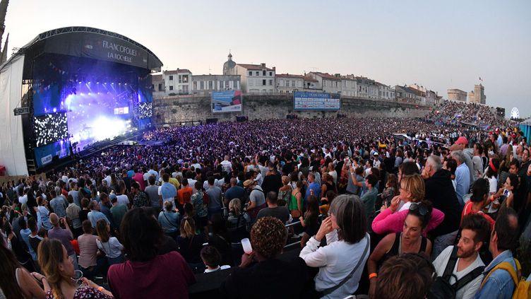 La grande scène des Francofolies en juillet 2018 à la Rochelle. (XAVIER LEOTY / AFP)