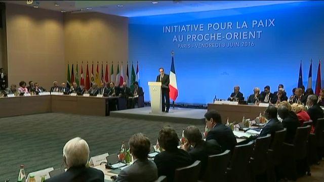 François Hollande lors d'une réunion internationale sur le conflit israélo-palestinien pour tenter de relancer le processus de paix, à Paris vendredi 3 juin 2016.