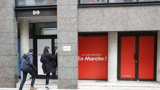 Le siège du parti La République en marche, dans le 15e arrondissement de Paris. (LEON TANGUY / MAXPPP)