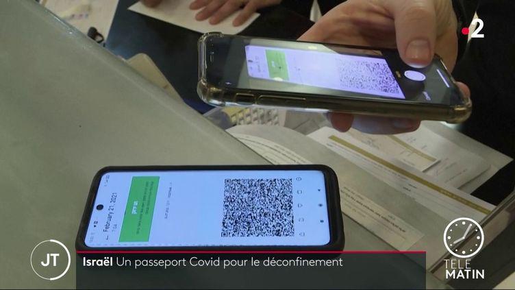 Un passeport vert mis en plave en Israël pour accéder à certains lieux (France 2)