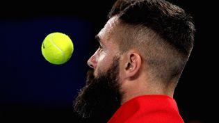Eliminé de l'Open d'Australie dès le premier tour, Benoît Paire avait encore des comptes à régler (PAUL CROCK / AFP)