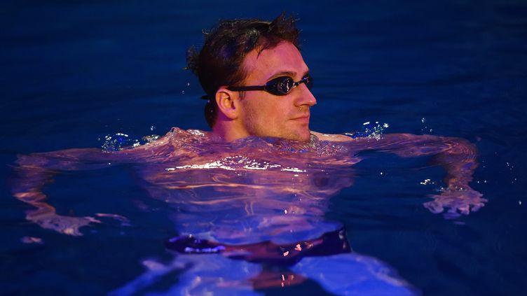 Le nageur américain Ryan Lochte, à Las Vegas, le 30 septembre 2016. (ETHAN MILLER / GETTY IMAGES NORTH AMERICA / AFP)
