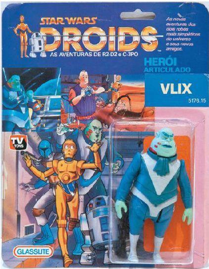 """Vlix neuf en blister, Brésil, 1985. Vlix est un personnage obscur de la série animée """"Droids"""". Estimation : 8 000 euros. (HÔTEL DROUOT)"""