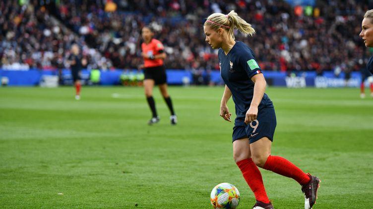Eugénie Le Sommer ne se sent pas fatiguée malgré le Final 8 de la Ligue des Champions (MIRKO KAPPES / FOTO2PRESS)