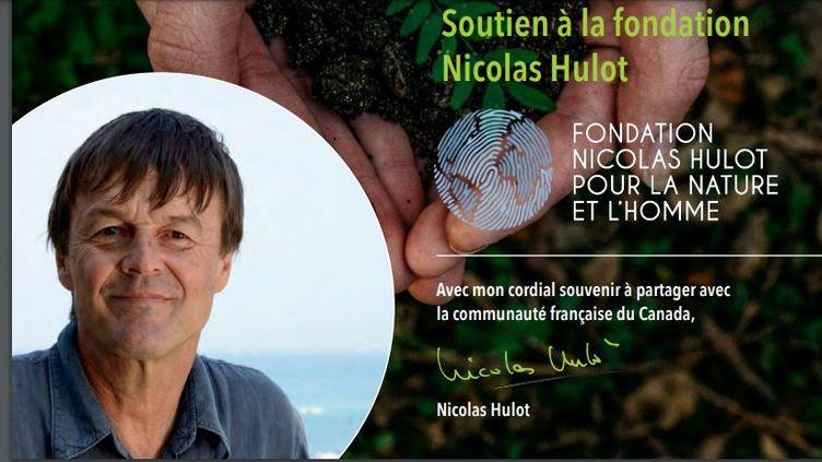 La photo de l'écologiste Nicolas Hulot utilisée frauduleusement par une liste au Canada, lors des élections consulaires les29 et 30 mai 2021. (DIPLOMATIE.GOUV)
