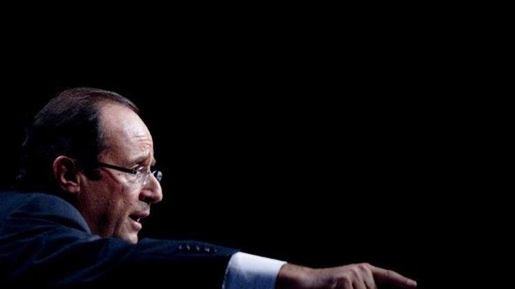 François Hollande à la convention d'investiture du parti socialiste en octobre 2012 (AFP PHOTO / JOEL SAGET)
