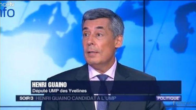 Henri Guaino était l'invité de Soir 3, lundi 3 septembre 2012. (FRANCE 3 / FTVI)