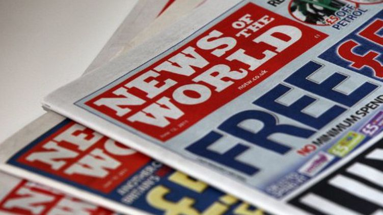"""Une des dernières """"une"""" du News of the World, le 7 juillet 2011. (AFP - Adrian Dennis)"""