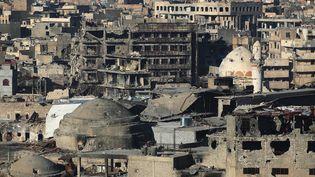 Les décombres de Mossoul (Irak), le 8 janvier 2018, six mois après la reprise de la ville des mains de l'Etat islamique. (AHMAD AL-RUBAYE / AFP)