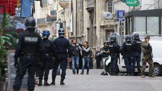 Vaste opération de police rue Saint-Denis le 17 septembre 2016 après une fausse alerte attentat. (MAXPPP)