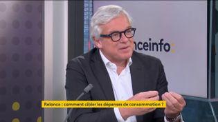 Bertrand Dumazy, président-directeur général d'Edenred, invité éco de franceinfo, mardi 2 mars 2021. (FRANCEINFO)