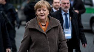 La chancelière allemande Angela Merkel, à Münich (Allemagne), le 6 février 2017. (TOBIAS HASE / DPA / AFP)