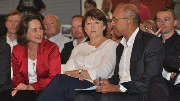 Ségolène Royal, Martine Aubry et Harlem Désir (AFP)