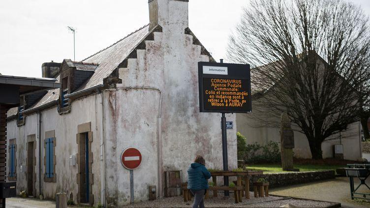 Le village de Crac'h touché par le coronavirus dans le Morbihan. (LOIC VENANCE / AFP)