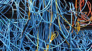 Des câbles réseau dans une salle de serveurs à New York, le 10 novembre 2014. (MICHAEL BOCCHIERI / GETTY IMAGES NORTH AMERICA)