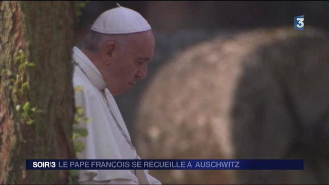 Le pape François à Auschwitz