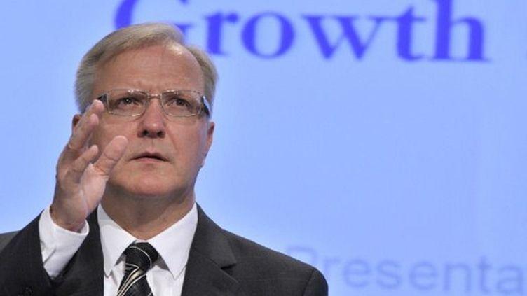Olli Rehn, commissaire européen aux Affaires économiques, le 10 novembre 2011. (GEORGES GOBET / AFP)