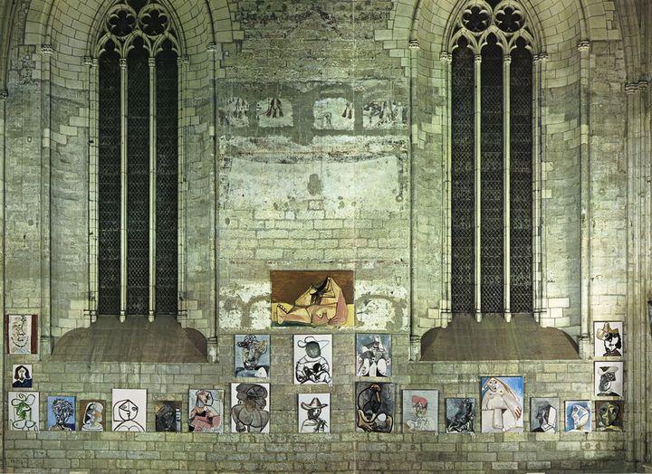 """Mario Atzinger et René Char : """"Catalogue d'exposition : Picasso, 1970-1972"""", 201 peintures, du 23 mai au 23 septembre 1973, Palais des Papes, Avignon, 1973, Musée national Picasso, Bibliothèque  (Succession Picasso 2018)"""