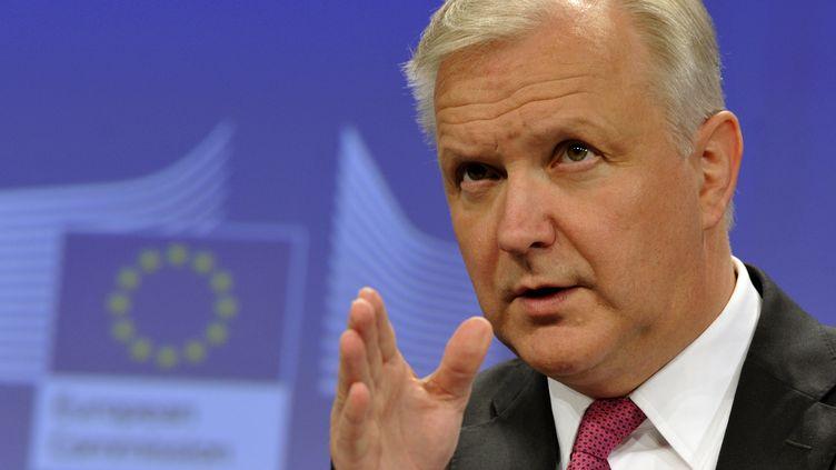 Olli Rehn, le 5 juin 2013 à Bruxelles (Belgique). (GEORGES GOBET / AFP)