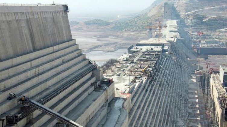 Le Grand Barrage de la renaissance éthiopienneà Guba, dans le nord-ouest de l'Ethiopie, le 24 novembre 2017. Les conséquences que ce barrage pourrait avoir sur le débit du Nil pèsent sur les relations entre L'Ethiopie et l'Egypte. (Gioia Forster / DPA)
