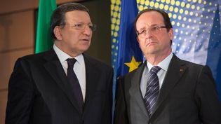 Le président de la Commission européenne, Jose Manuel Barroso, et le président français, François Hollande, le 15 mai 2013 à Bruxelles. (ISOPIX / SIPA)