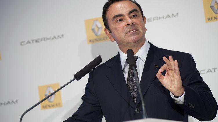 Le PDG de Renault-Nissan, Carlos Ghosn, le 5 novembre 2012 lors d'une conférence de presse àBoulogne-Billancourt (Hauts-de-Seine). (JULIEN MUGUET / REUTERS)