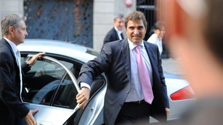 Christian Jacob le 7 septembre 2010 devant le siège de l'UMP, à Paris (AFP / Lionel Bonaventure)