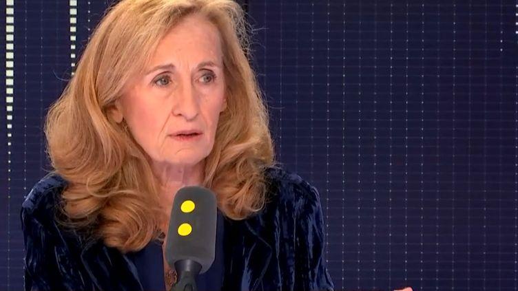 La ministre de la Justice, Nicole Belloubet, invitée de franceinfo le 24 octobre 2018. (RADIO FRANCE / FRANCE INFO)
