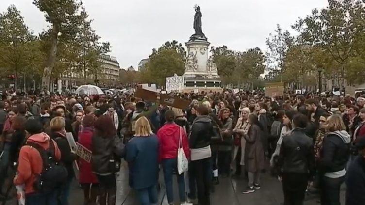 Dimanche 29 octobre, plusieurs rassemblements ont été organisés pour lutter contre le harcèlement sexuel. (FRANCE 2)