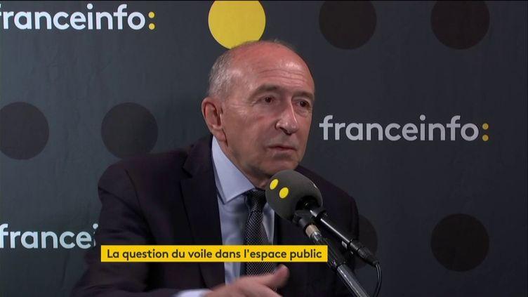 Gérard Collomb, invité de franceinfo, dimanche 20 octobre. (FRANCEINFO / RADIOFRANCE)
