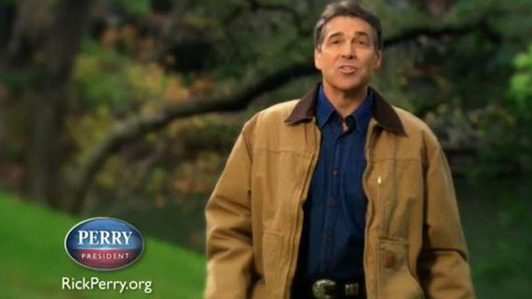 Capture d'écran du clip de Rick Perry, diffusé le 6 décembre 2011 sur Youtube. (FTVi)