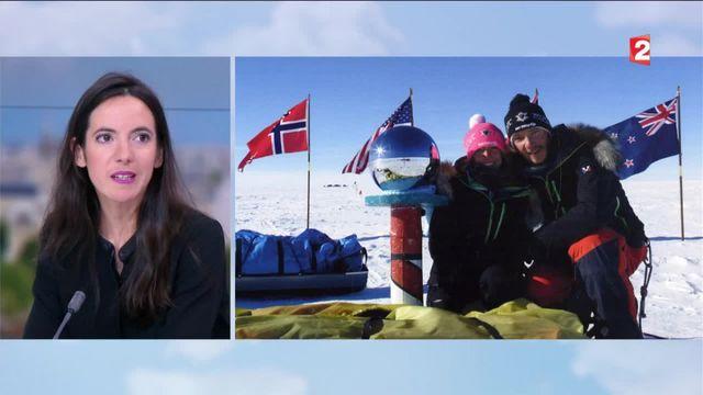 L'exploit de Stéphanie Gicquel : elle traverse l'Antarctique à ski par -50 degrés