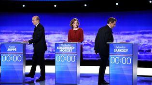 Le premier débat de la primaire de la droite le 13 octobre 2016 (MARTIN BUREAU / POOL)