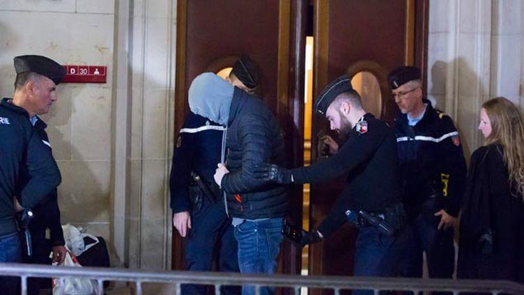 (Karl Douant, l'un des prévenus, devant la 16ème chambre du tribunal correctionnel de Paris © Maxppp)