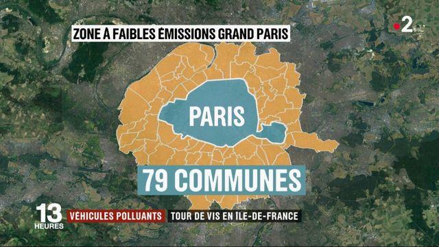 Grand Paris : les véhicules les plus polluants bannis à partir de juillet 2019