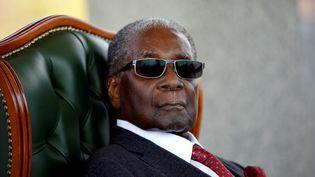 L'ancien président du Zimbabwe, Robert Mugabe, à sa résidence privée à Harare, capitale du pays, le 29 juillet 2018 (REUTERS - SIPHIWE SIBEKO / X90069)