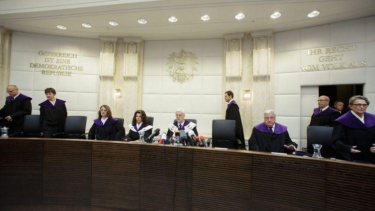 (La Cour constitutionnelle autrichienne a invalidé l'élection présidentielle du 22 mai ce vendredi matin  © MaxPPP)