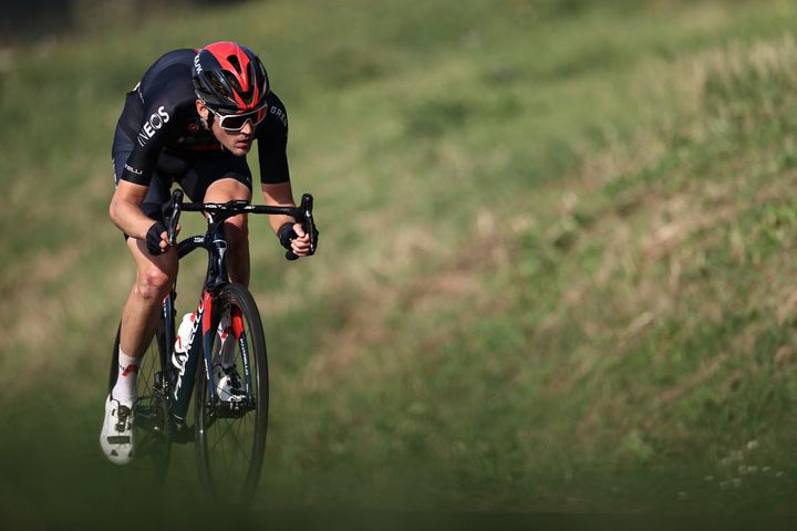 Pavel Sivakov (Ineos-Grenadiers) lors du Tour de France 2020. (KENZO TRIBOUILLARD / AFP)