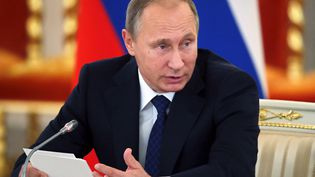 Le président russe,Vladimir Poutine, lors du Conseil présidentiel pour la société civile et les droits de l'homme à Moscou (Russie), le1er octobre 2015. (REUTERS)