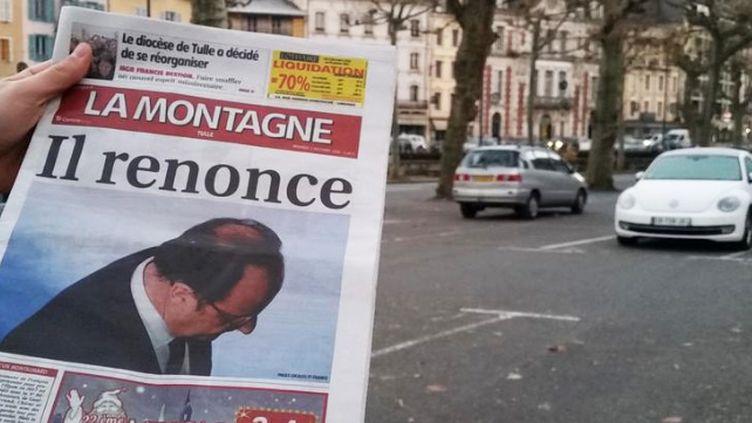 La Une de La Montagne, vendredi 2 décembre 2016. (GILLES GALLINARO / RADIO FRANCE)