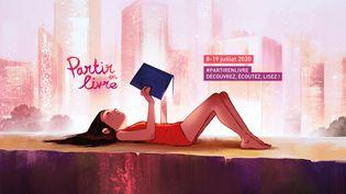 """Affiche de 'Partir en livre"""" 2020 (Aurélie Neyret / Partir en Livre)"""